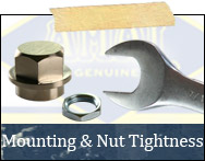 Mounting Surfaces and Nut Tightness