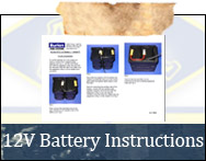 12 Volt Battery Instructions